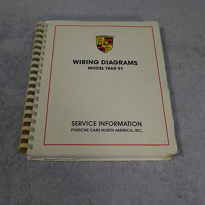 Porsche all Model Year 1991 wiring diagram manual ...