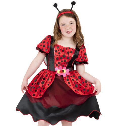 Girls Ladybug Fancy Dress Costume Little Lady Bird Insect Girls Book Week Day