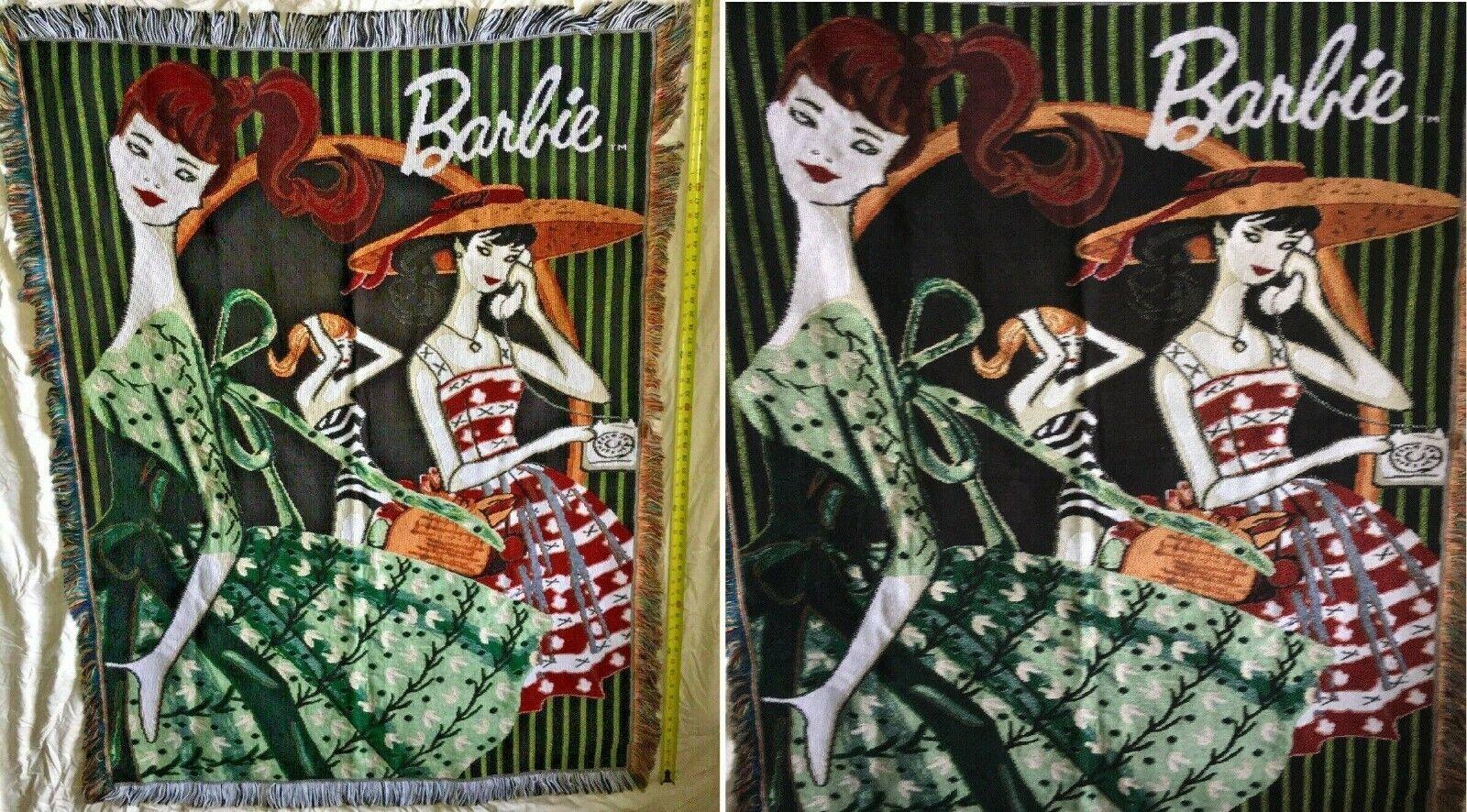 2003 Barbie PXR The Northern Company Decorative Throw Blanket 46 x 60
