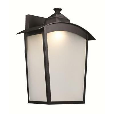 trans globe 1 light black outdoor integrated led wall mount lantern