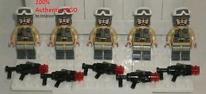 LEGO-NEW-Star-Wars-Rebel-Trooper-Black-Beard-Minifigure-Stud-Rifle-5x-75164