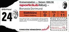 Ticket DFB-Pokal 95/96 SC Freiburg - Borussia Dortmund