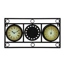 Elegant Outdoor Garden Clock And Thermometer New
