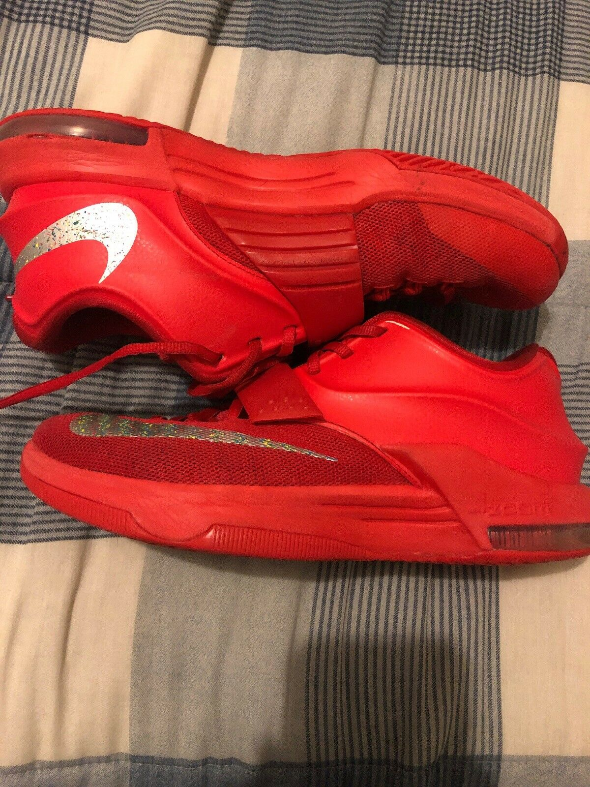 Pre owned mens nike kd 7 global games size 9 red