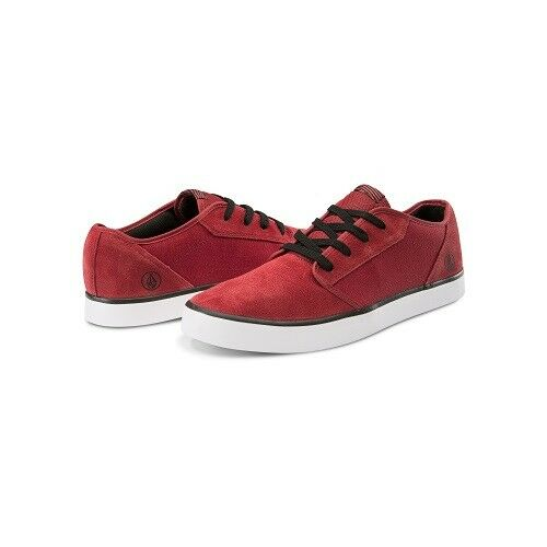 Volcom Grimm 2 Trainers Deck Skate Shoes Crimson Red