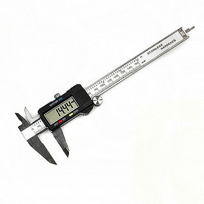 "150mm 15cm 6"" Electronic Digital Steel Vernier Caliper Gauge Micrometer Tool 1pc"