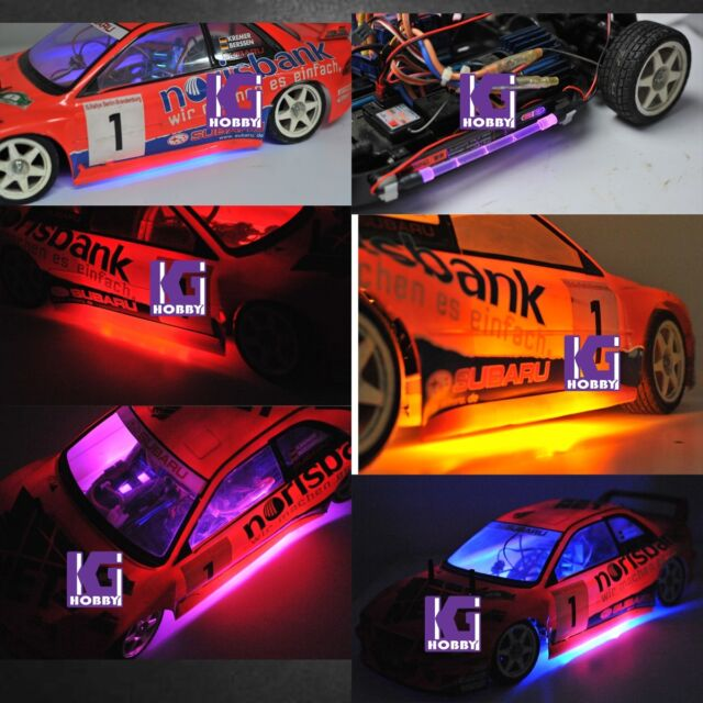 RC 1/10 CAR chassis body LED TUBE strip LIGHT RGB color COOL LOOK! TRUCK  BUGGY