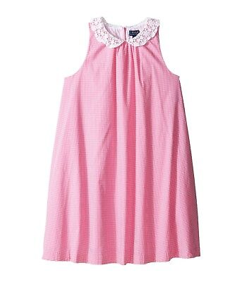 NWT Ralph Lauren Polo Girls Cotton Poplin Lace Collar Dress