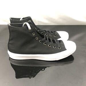 5c3a7eef63a2 Converse Chuck Taylor All Star II Hi Shoes Lunarlon Black 150143C Sz ...