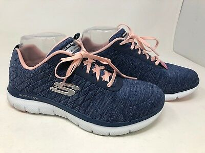 New Womens Skechers 12761 Flex Appeal 2.0 Simplistic Gray//Pink E18