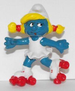 Roller-skate-Smurfette-2-inch-Plastic-Figurine-20126