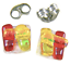 DICHROIC-GLASS-EARRINGS-Post-Tiny-1-4-034-10mm-Red-Yellow-Orange-Rock-Candy-Fused thumbnail 4