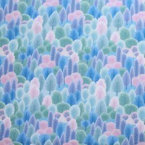 100% Cotone Premium Design Foresta Pastello Stampa mozzafiato 145cm ampio tessuto fai da te