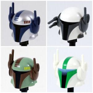 Custom MANDALORIAN TECH HELMET for Minifigures -Pick Color!- Star Wars Clones