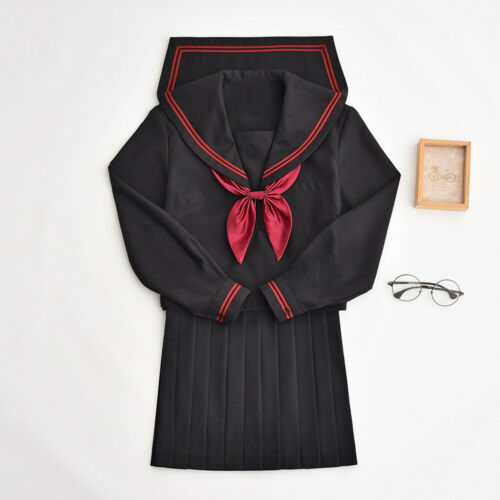 Japanese JK School Uniform Sailor Women Girl Shoujo Costume Dress Halloween