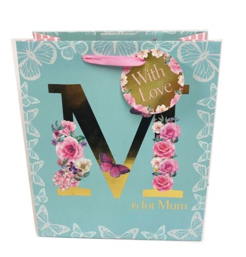 Mothers Day Gift Bag Mum Her Wrapping Large Medium Floral Foil Quality Tag+Tape
