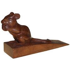 Türstopper Maus,13,5 x 7,5 x 4 cm  Suarholz Türhalter Holz Mäuschen
