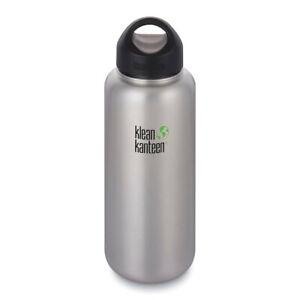KLEAN KANTEEN WIDE MOUTH 40oz 1182ml Brushed Stainless BPA FREE WATER BOTTLE