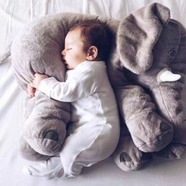 Hot 1Pc Baby Long Nose Elephant Doll Pillow Soft Plush Stuff Toys Lumbar Pillow