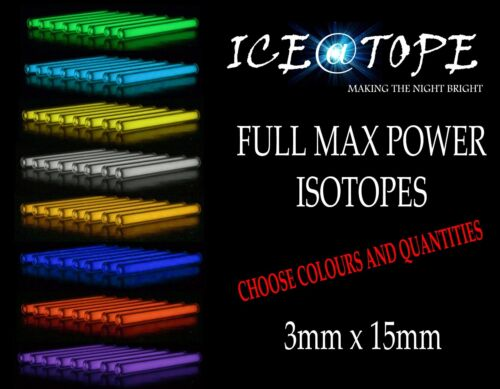 Iceatope taille 3 mm x 15 mm Isotopes BETALIGHT trigalight GTLS flacon pêche à la Carpe