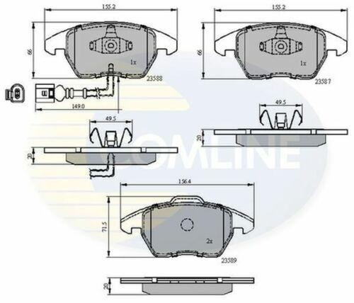 Plaquettes frein avant pour Passat 3 C 1.4 1.6 1.8 1.9 2.0 05 /> 14 diesel essence Comline