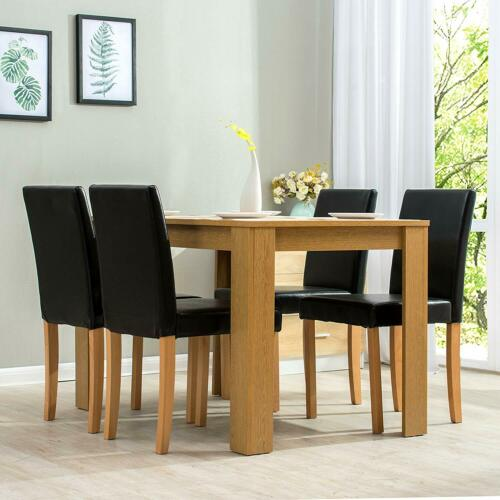 Modern Wooden Dining Table 4 Pu, Wood Dining Room Table
