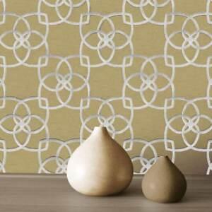 Marrakech-Papier-Peint-Geometrique-Argent-Dore-Muriva-701371-Neuf
