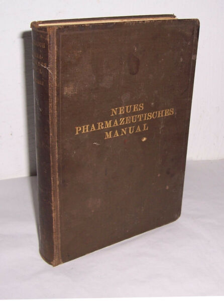 Honestidad Nuevo Pharmazeutisches Manual 1924 Eugen Dieterich & Kerkhof Medicina