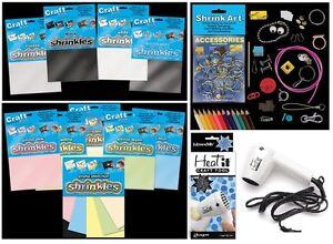 SHRINKLES-SHRINKIE-SHRINK-PLASTIC-ART-CRAFT-COLOUR-EMBELLISHMENTS-JEWELLERY