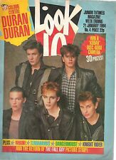 DURAN DURAN cover-poster- 2 page article   Lookin UK magazine 1984 Wham