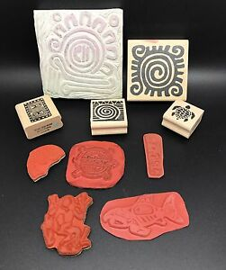 Lot of Hawaiian Theme Rubber Stamps, RSP, Various Designs & Styles (RF604-19)