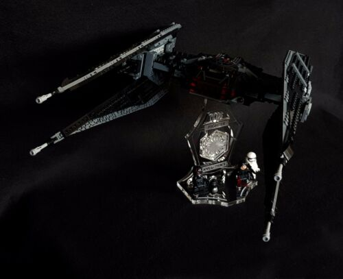 slots for Lego 75179 Kylo Ren/'s Tie Fighter Display stand 3D angled Star Wars