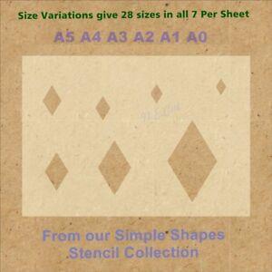 Simple-Shape-Diamond-Stencil-Strong-350-micron-Mylar-not-Hobby-stuff-SSS004
