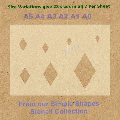 Simple Shape Diamond Stencil Strong 350 micron Mylar not Hobby stuff #SSS004