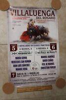 2015 Bullfight Poster From Villaluenga Del Rosario Spain - Plaza Del Toros