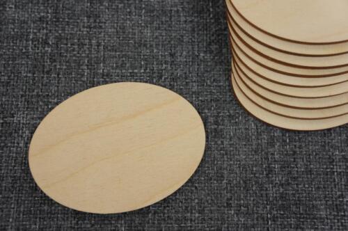10 Stk Oval Form Holz Zirkel Dekration Basteln Kreativ Malen Decoupage //PW66//