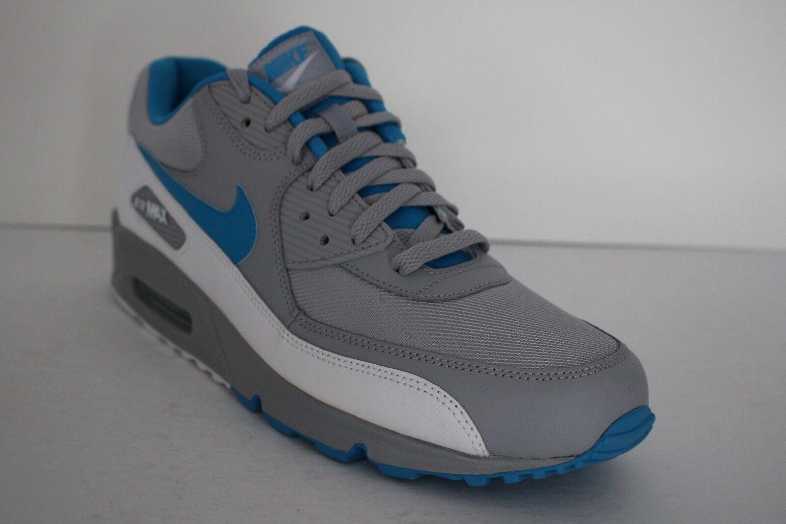 Nike air max max max 90 retro - mens sz 12 laufschuhe, grau -, blau - weiße lässig 325018 096 c14528