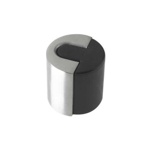 designer door stop floor mounted satin stainless steel 40mm x 40mm 3 - Designer Door Stops