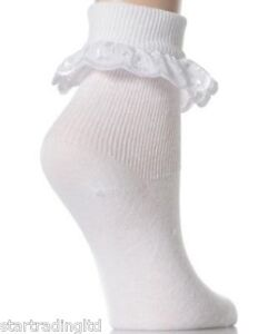 12-Pairs-Girls-Frilly-Lace-Ankle-Socks-School-Socks-Broderie-Anglaise-Lace-Socks