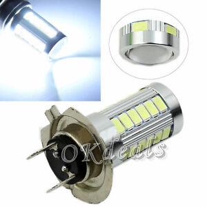 H7-Lampara-Bombillas-5630-SMD-33-LED-12V-Iluminacion-Luz-Blanca-Pura-Coche