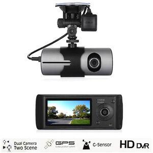 """2.7"""" 1080P Vehicle Car DVR Camera Video Recorder Dash Cam G-Sensor GPS Dual Lens"""