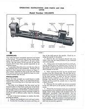 Craftsman 10323070 Wood Lathe Instructions Amp Parts Manual Cd