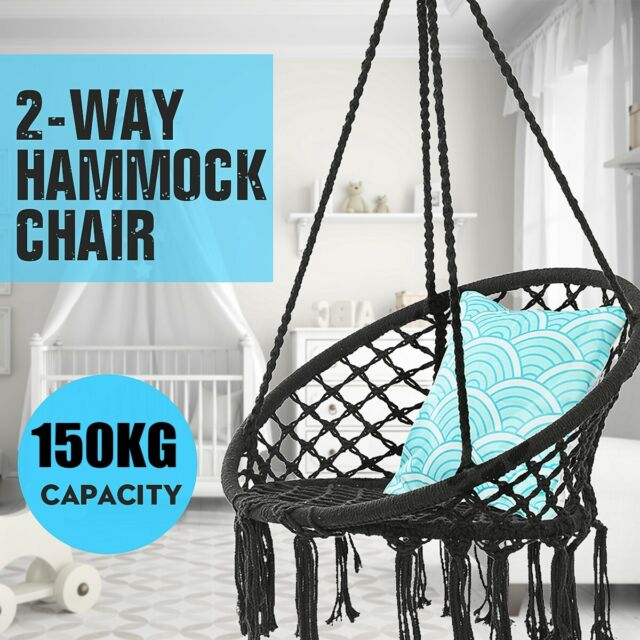 Superb 330 Lbs Hanging Swing Hammock Chair Cotton Rope Round Macrame Indoor Outdoor Us Ibusinesslaw Wood Chair Design Ideas Ibusinesslaworg