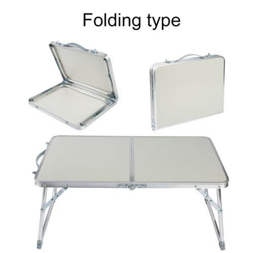 Aluminum Folding Portable Small Desk Outdoor Picnic Camping Table Laptop PC Desk