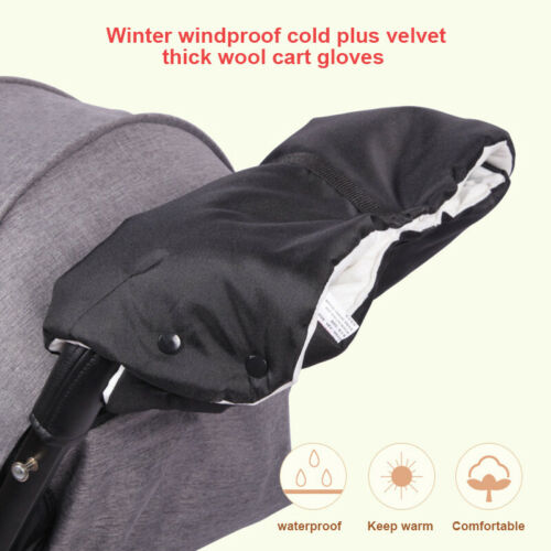 Baby Stroller Trolley Handle Cover Glove Hand Keep Warm Windproof For Outdoor Wi