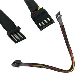 12 Inch 4 Pin Floppy Drive Power Extension Cable Black