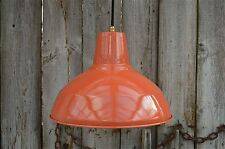 Large superb dusky orange ceiling light factory lamp shade light pendant LOG3