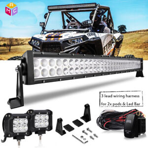 30 inch double curved led light bar cube harness for commander 1000 rh ebay com