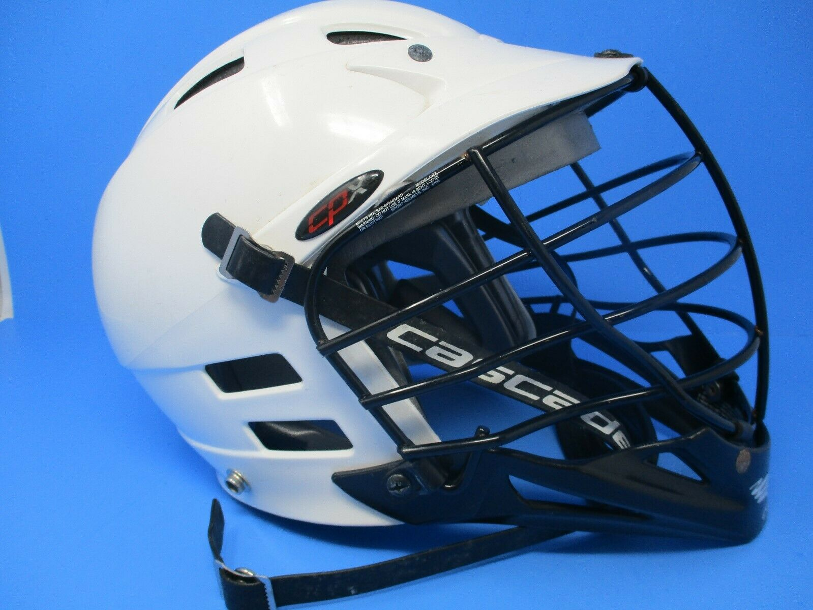 Cascade CPX White LaCrosse Helmet