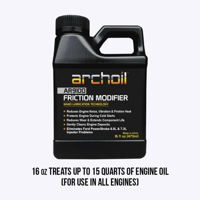 AR9100 Friction Modifier 9100 Archoil Oil Additive 16oz Bottle Direct from USA